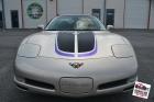 Custom designed cut vinyl racing stripes installed, carbon fiber & metallic purple