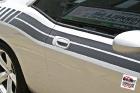 Custom designed and cut Di-Noc© carbon fiber vinyl stripe installed