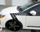 2015 Scion TC - Gloss Black Paint Wrap and Stripe