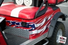 ezgo-red-Custom designed, printed, and laminated vinyl decal installed