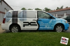 Custom designed, printed, and laminated full vinyl wrap installed