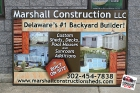Sign - Marshall Construction