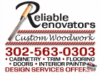 Sign - Reliable Renovators